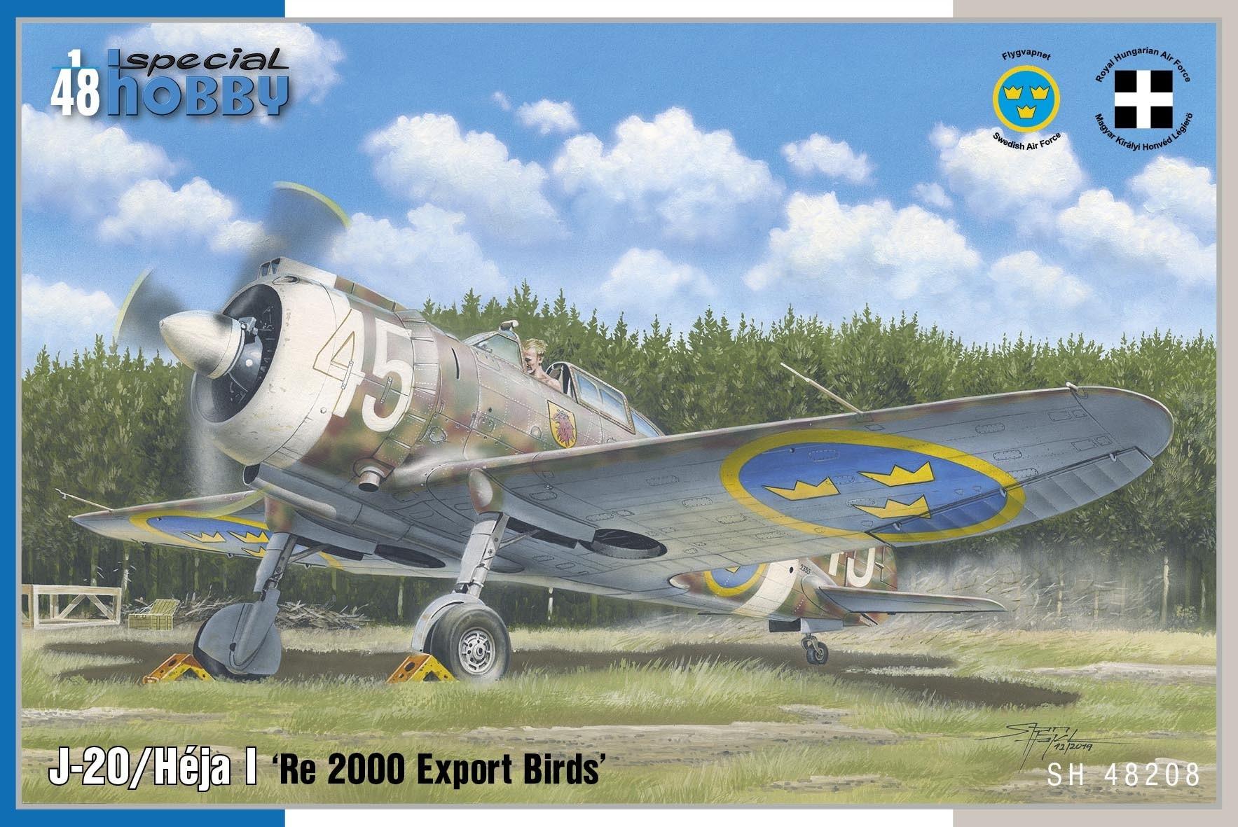 J20 Reggiane Re2000, svenska dekaler. NEW TOOL