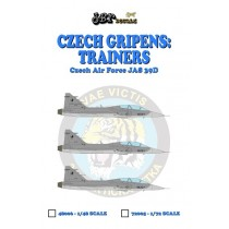 Czech Gripens: Trainers JAS39D #9819 + #9820 + 10000 hours tail + canards (9819)