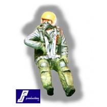 F-104 pilot, seated