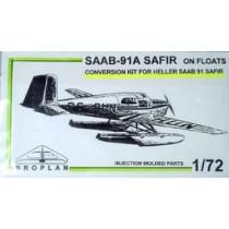 SAAB 91A Safir on floats conversion för Heller Safir.