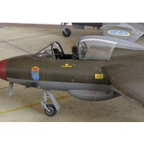 Hawker Hunter vacformed canopy x 2