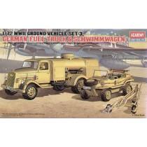 German fuel truck and Schwimmwagen