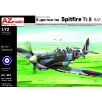 Spitfire Tr.9 RAF Trainer x 4 schemes. Old and modern.