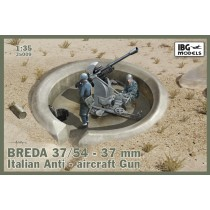Breda 37/54 37mm Italian AA Gun incl. optional metal barrel
