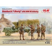 Standard B Liberty truck WWI w. US Infantry
