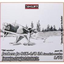 Ju86K-4 SwAF B3A Conversion set part 3