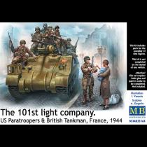 The 101st light company. US paras & Brittish tankman, France 1944. 9 figures