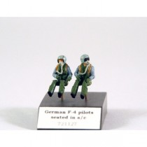Modern German pilots seated in a/c, 2 pcs