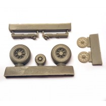 SAAB J29 Tunnan main gear and wheels