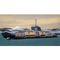 Type XXI U-Boat U-2540 w. interior detail.