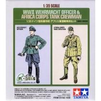 German Wehrmacht Officer & Afrika Corps tank crew man
