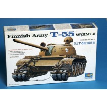 T-55 with KTM-5 mine roller Finnish Army