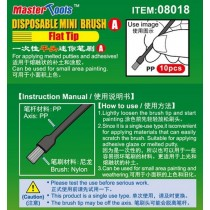 Disposable Mini Flat Brush (x10) For applying melted putty and adhesives.