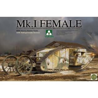 WWI British Tank Mark I with Anti grenade Screen
