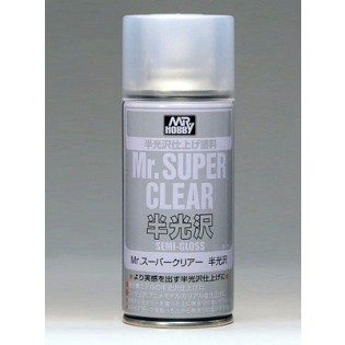 Klarlack halvblank, 170 ml Mr. Super Clear, aerosol NORGE? SE INFO