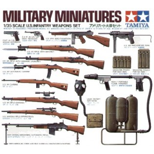 US infantry weapon set