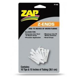 ZAP Z-ends x 10 + 38 cm tubing