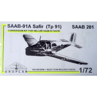 SAAB 91A Safir (Tp91) SAAB 201 conversion for Heller Safir. (J29 Tunnan wing.)