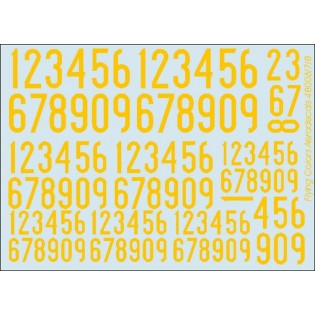 Yellow SwAF numbers 1936-62, narrow