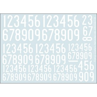 White SwAF numbers 1936-62, narrow