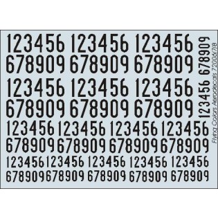 Black SwAF numbers 1936-62, narrow