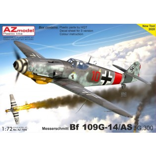 Bf109G-14/AS, JG 300 New (re-designed) fuselage parts