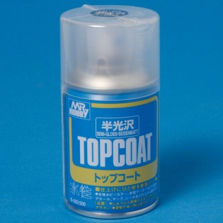Klarlack, sidenmatt, 86 ml TOP COAT aerosol