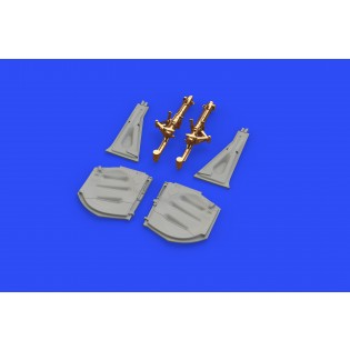P-51D-5 Mustang undercarriage legs BRONZE (for Eduard kits)