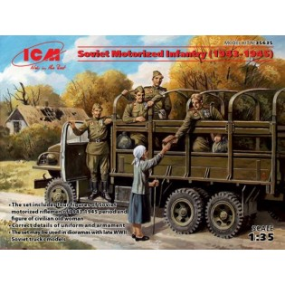 Soviet Motorised Infantry 1944-45 (4 x Figures)