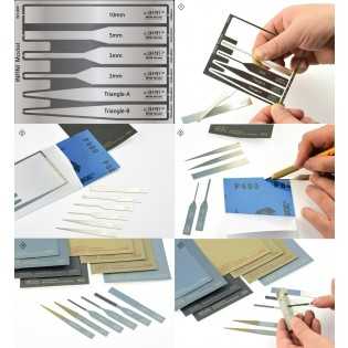 Sanding Sheet of Sticker type (Full Set 8 EA & PE holding tool)