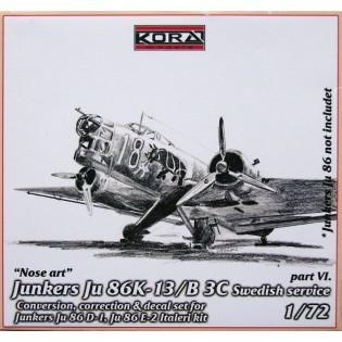 Ju86K-13 SwAF B3C Conversion set part 6