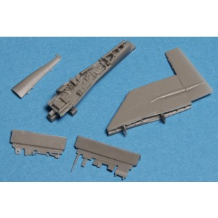 Fin fold set for SAAB 37 Viggen