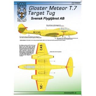 Gloster Meteor T.7 Target Tug Svensk Flygtjänst