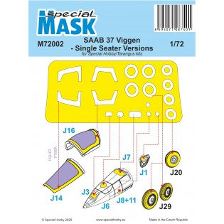 SAAB 37 Viggen single seater paint mask SE INFO