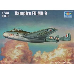 Vampire FB.9 (SwAF J28 - med FV dekaler av RB Studio)