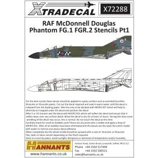 RAF FG.1 Phantom stencil data Part 1